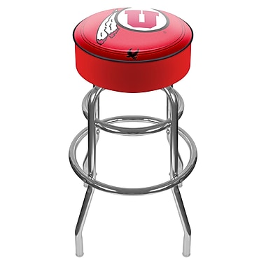 Trademark NCAA® 31'' Novelty Swiveling Base Padded Bar Stool, Red (844296017652)