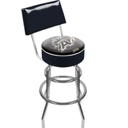 Trademark NCAA® 41.75'' Modern Swiveling Base Padded Bar Stool, Black (844296056385)