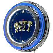 "Trademark 14"" Double Ring Neon Clock, University of Pittsburgh"