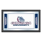 Trademark NCAA 15 x 26 x 3/4 Wooden Logo and Mascot Framed Mirror, Gonzaga University