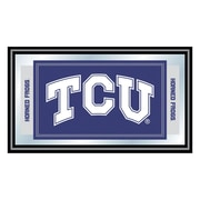 "Trademark NCAA 15"" x 26"" x 3/4"" Wooden Logo and Mascot Framed Mirror, Texas Christian University"