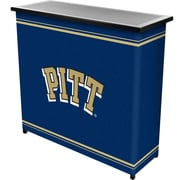 "Trademark 36"" Metal Portable Bar With Case, University of Pittsburgh"