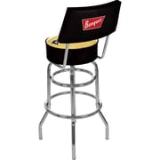 "Trademark 40"" Padded Swivel Bar Stool With Back, Coors Banquet"