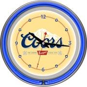 Trademark Global CO1400 Analog Coors Banquet Neon Wall Clock, Blue