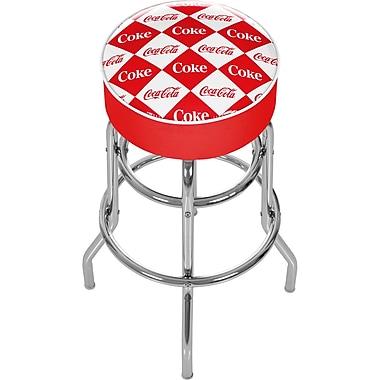 Trademark 30'' Novelty Swiveling Base Padded Bar Stool, Red/White (844296082452)