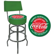 "Trademark 40"" Padded Swivel Bar Stool With Back, Coca-Cola"