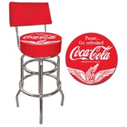 "Trademark 40"" Padded Swivel Bar Stool With Back, Wings Coca-Cola"