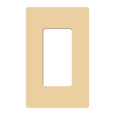 Lutron® Claro Single Gang Rocker Wallplate, Ivory
