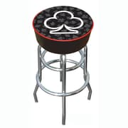 Trademark 30 Padded Swivel Bar Stool, Four Aces Club