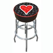 Trademark 30 Padded Swivel Bar Stool, Four Aces Heart