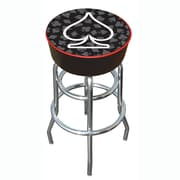 Trademark 30 Padded Swivel Bar Stool, Four Aces Spade