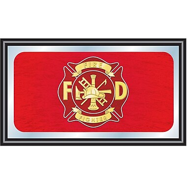 Fire Fighter Wood Framed Mirror