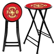 "Trademark 24"" Cushioned Folding Stool, Fire Fighter"