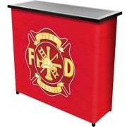 """Trademark 36"""" Metal Portable Bar With Case, Fire Fighter"""