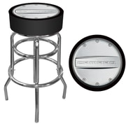 "Trademark 30"" Padded Swivel Bar Stool, Camaro, Black/Silver (Made in USA)"