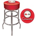 Trademark 30in. Padded Swivel Bar Stool, Red Corvette C1