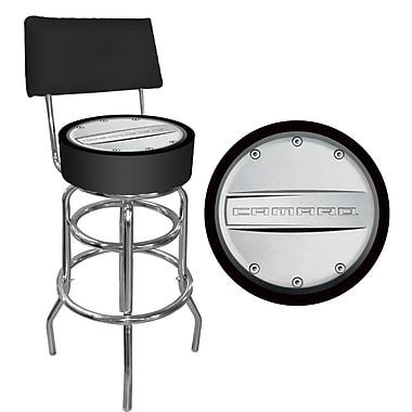 Trademark 40'' Novelty Swiveling Base Padded Bar Stool, Black (844296091966)