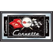 "Trademark CORVETTE 15"" x 26"" x 3/4"" Wooden Framed Mirror, Black Corvette C1"