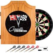 Trademark Wood Dart Cabinet Set, Corvette C2 Black
