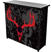 "Trademark 36"" Metal Portable Bar With Case, Hunter's Skull"