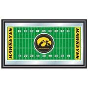 "Trademark NCAA 15"" x 26"" x 3/4"" Wooden Football Field Framed Mirror, University of Iowa"