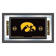 "Trademark NCAA 15"" x 26"" x 3/4"" Wooden Logo and Mascot Framed Mirror, University of Iowa"