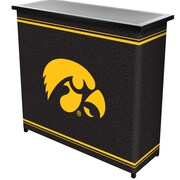 "Trademark 36"" Metal Portable Bar With Case, University of Iowa"
