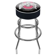 "Trademark 31"" NCAA Padded Swivel Bar Stool, Ohio State University, Black"