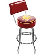 Trademark NCAA® 41.75'' Modern Swiveling Base Padded Bar Stool, Chrome (886511119192)