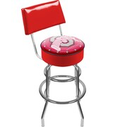 "Trademark 41 3/4"" Padded Swivel Bar Stool With Back, The Ohio State University"