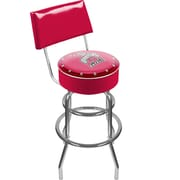"Trademark 41 3/4"" NCAA Padded Swivel Bar Stool With Back, The Ohio State University, Red"