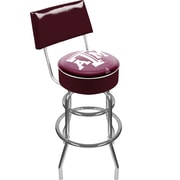 Trademark NCAA® 41.75'' Modern Swiveling Base Padded Bar Stool, Chrome (844296013302)