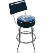 "Trademark 41 3/4"" Padded Swivel Bar Stool With Back, United States Naval Academy"