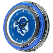 "Trademark 14"" Double Ring Neon Clock, Seton Hall University"