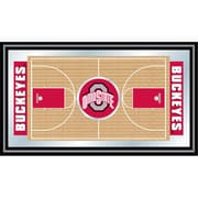 "Trademark NCAA 15"" x 26"" x 3/4"" Wooden Basketball Court Framed Mirror, The Ohio State"