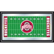 "Trademark NCAA 15"" x 26"" x 3/4"" Wooden Football Field Framed Mirror, The Ohio State"