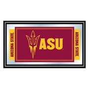 "Trademark NCAA 15"" x 26"" x 3/4"" Wooden Logo and Mascot Framed Mirror, Arizona State University"