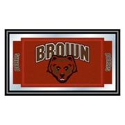 "Trademark NCAA 15"" x 26"" x 3/4"" Wooden Logo and Mascot Framed Mirror, Brown University"