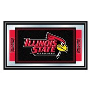 Trademark NCAA 15 x 26 x 3/4 Wooden Logo and Mascot Framed Mirror, Illinois State University