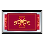 Trademark NCAA 15 x 26 x 3/4 Wooden Logo and Mascot Framed Mirror, Iowa State University