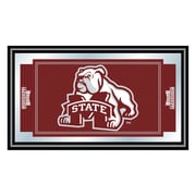 """Trademark NCAA 15"""" x 26"""" x 3/4"""" Wooden Logo and Mascot Framed Mirror, Mississippi State University"""