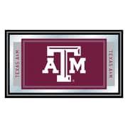 Trademark NCAA 15 x 26 x 3/4 Wooden Logo and Mascot Framed Mirror, Texas A&M University