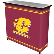 "Trademark 36"" Metal Portable Bar With Case, Central Michigan University"