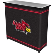 """Trademark 36"""" Metal Portable Bar With Case, Illinois State University"""