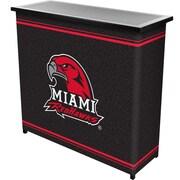 "Trademark 36"" Metal Portable Bar With Case, Miami University"