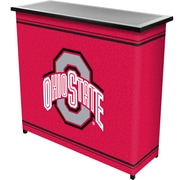 """Trademark 36"""" Metal Portable Bar With Case, Ohio State University, Pink"""