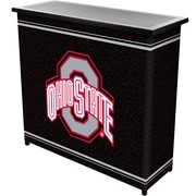 "Trademark 36"" Metal Portable Bar With Case, Ohio State University, Black"
