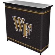 """Trademark 36"""" Metal Portable Bar With Case, Wake Forest University"""