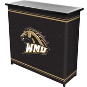 "Trademark 36"" Metal Portable Bar With Case, Western Michigan University"