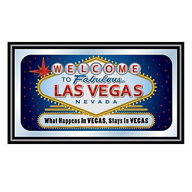 What Happens in Vegas, Stays in Vegas Framed Logo Mirror